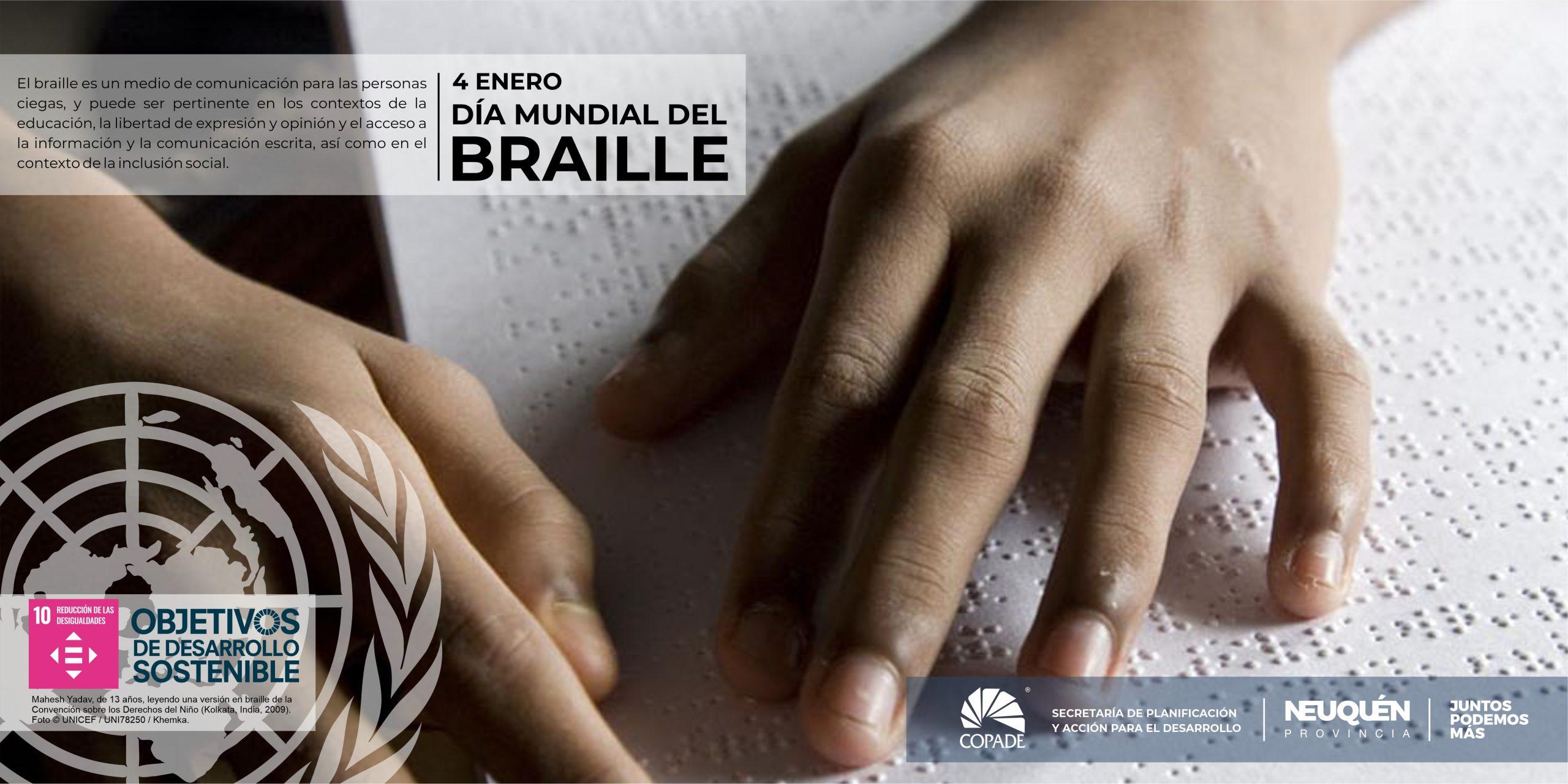 4 de enero es el Día Mundial del Braille