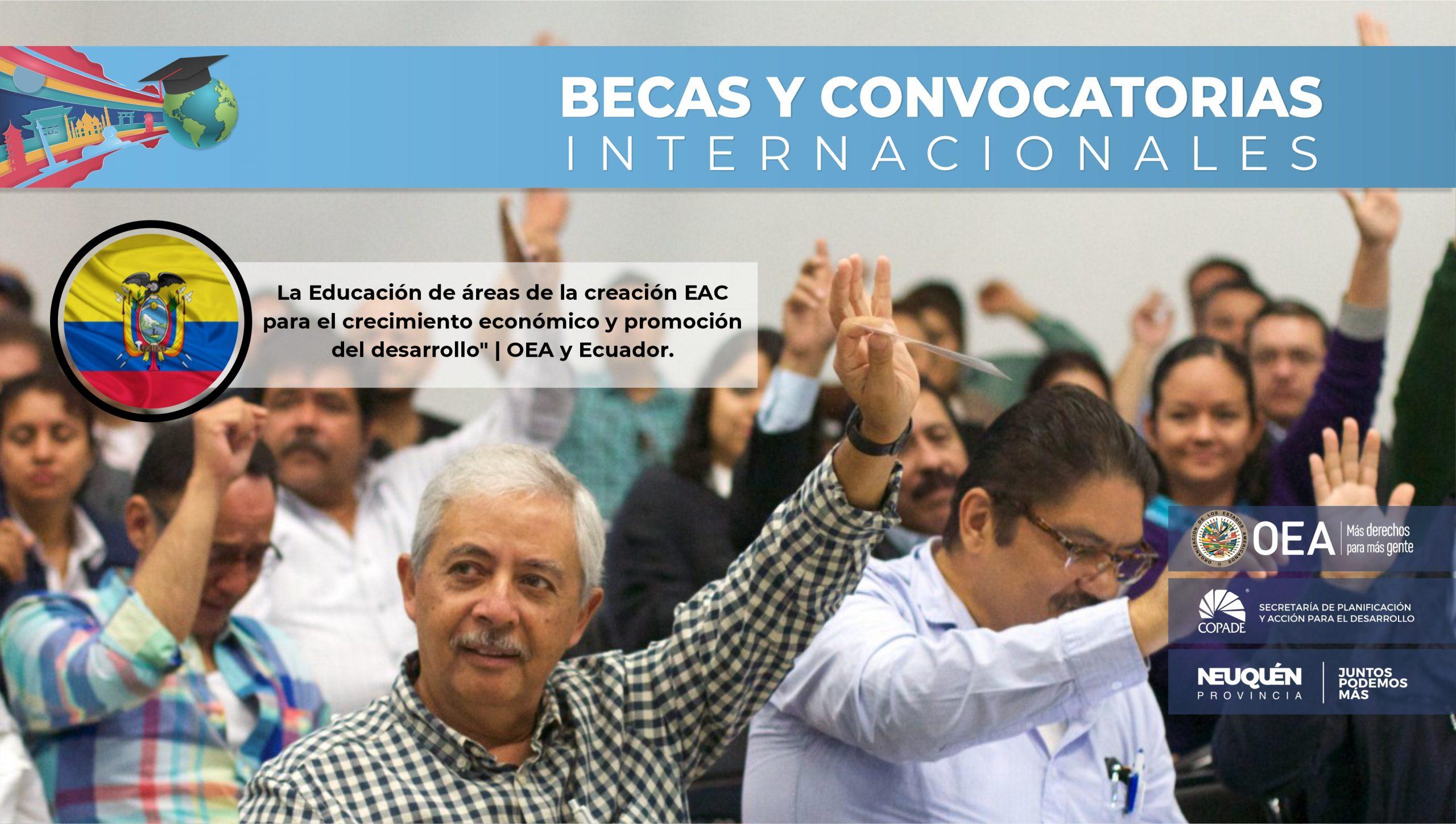 La Educación de áreas de la creación EAC para el crecimiento económico y promoción del desarrollo